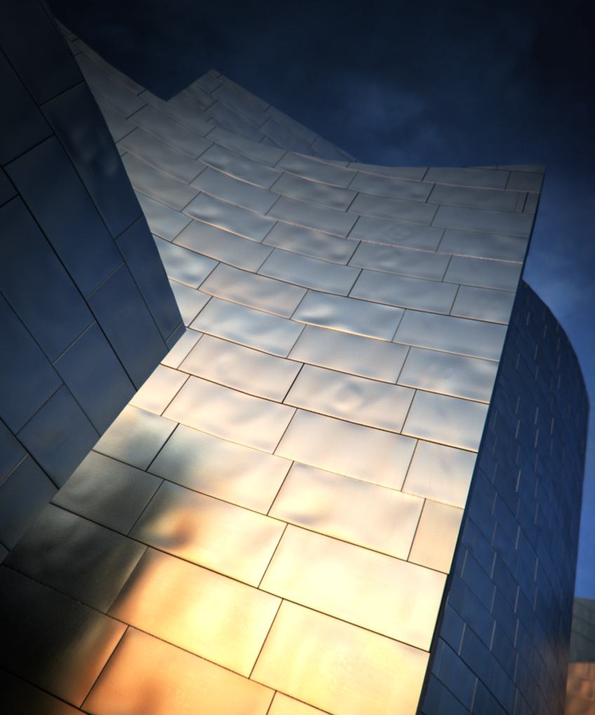 Frank Gehry-style titanium scales – BBB3viz